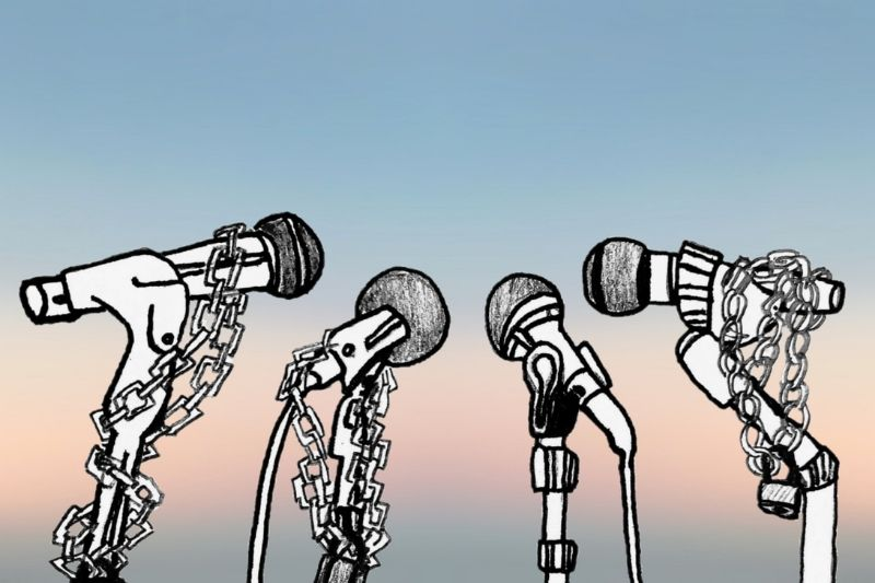 Drawing of microphones