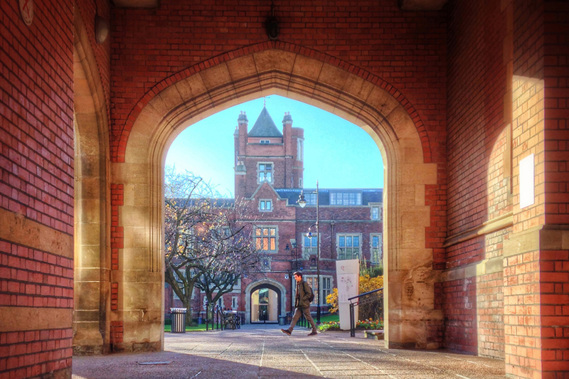 Archway into the quad