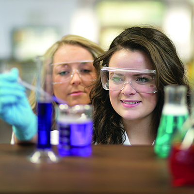 female student, chemistry research