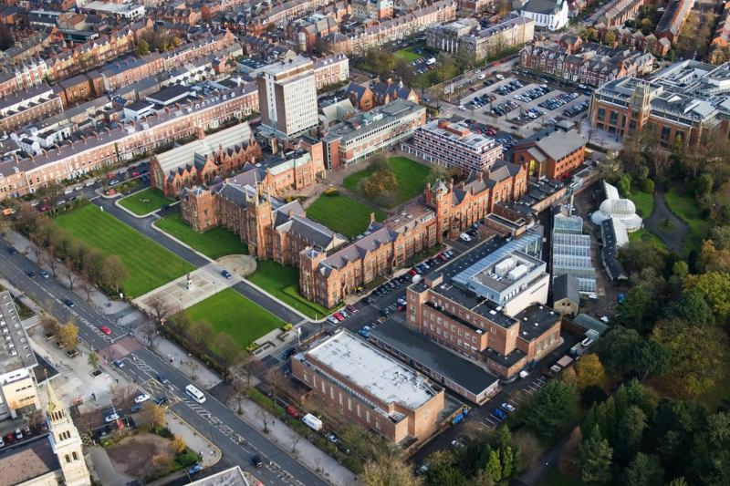 Aerial view of the campus