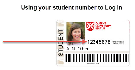 SmartCard Image showing student number
