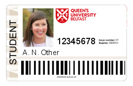 Example of, this in case, a student card. Bigger Image
