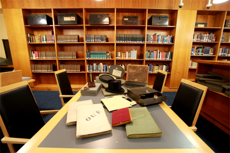 Items from the Hamilton Harty Collection laid out in the Special Collections Reading Room.
