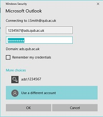 Outlook login incorporating ads