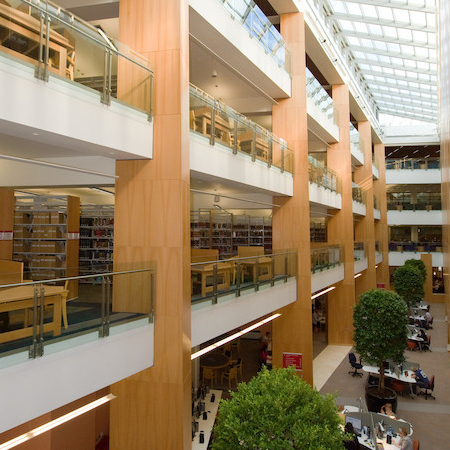 View of McClay Atrium and 3 floors