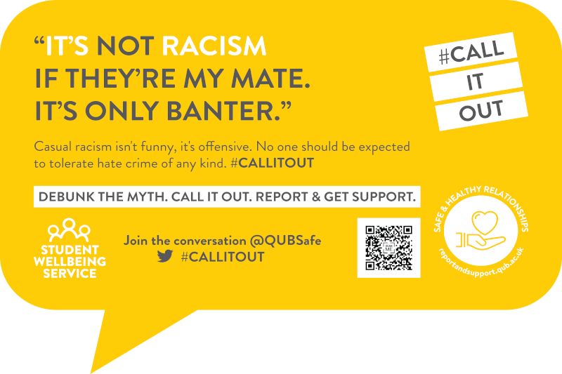 It's not racism if they're my mate. It's only banter. #CallItOut