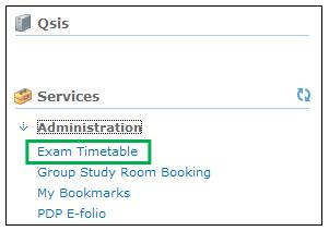 Exam Timetable Link