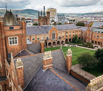 Queen's University Belfast - High View of the Quad