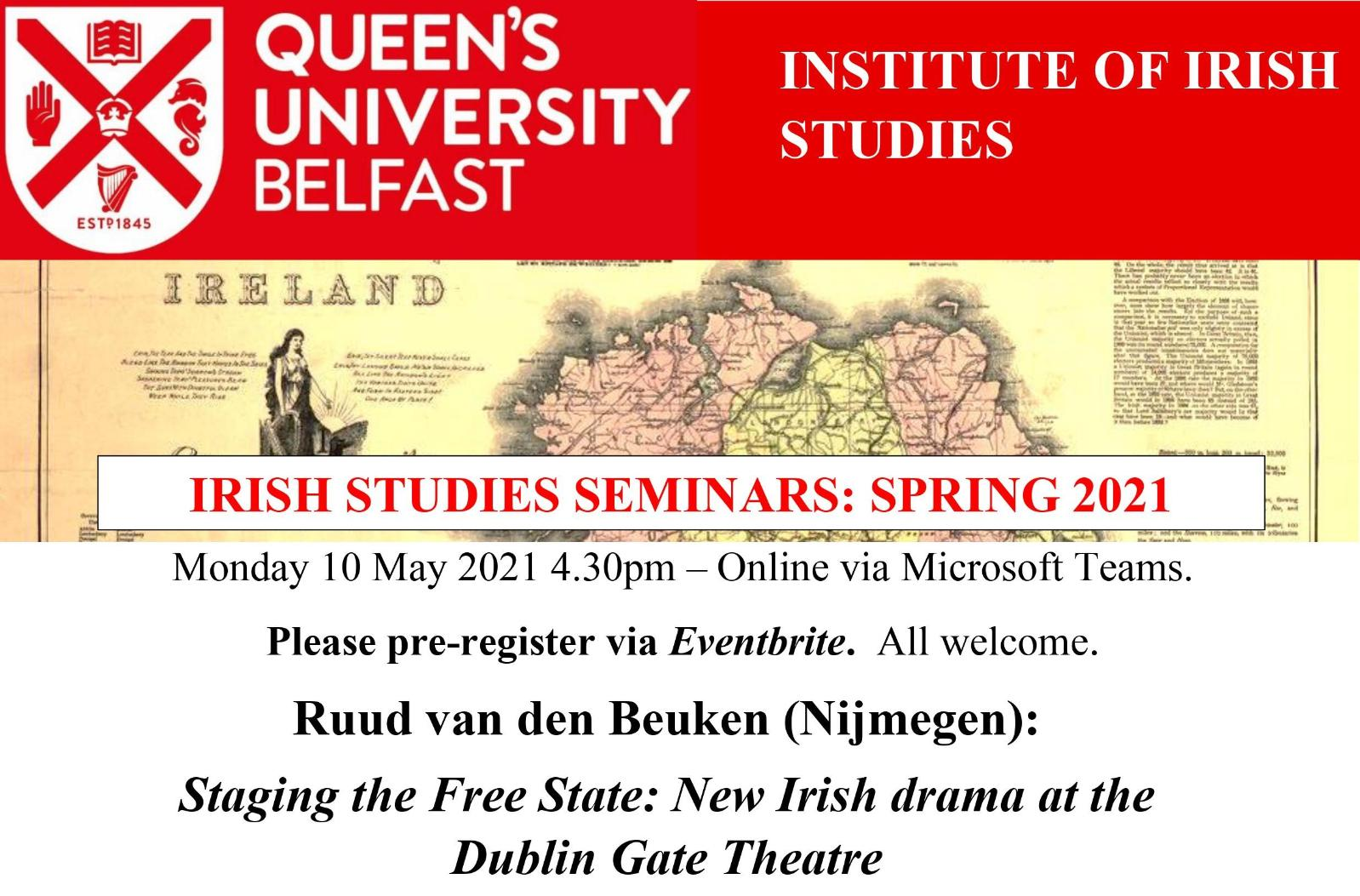 Irish Studies Seminar 10 May 2021