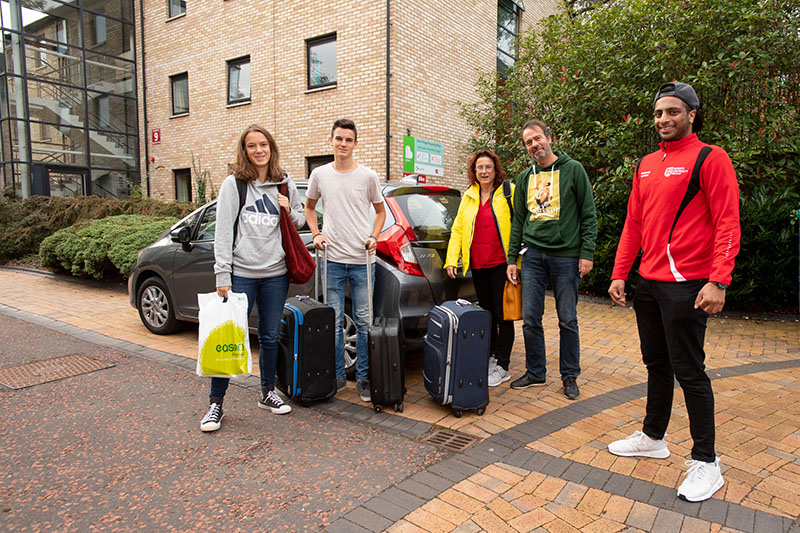 Student moving in to accommodation accompanied by their parents
