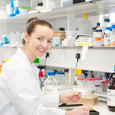 female student, lab based research