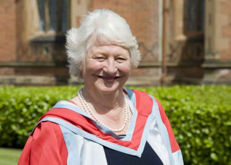 Former Olympic champion, Dame Mary Peters, attending her honorary graduation