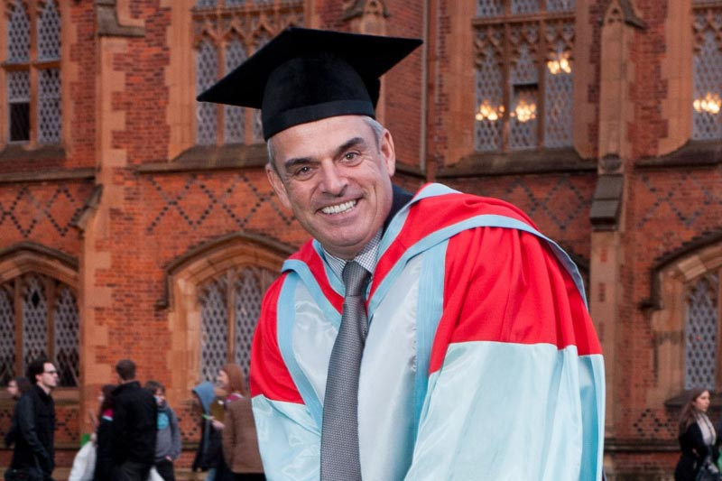 Professional golfer and former Ryder cup-winning captain, Paul McGinley, at his honorary graduation