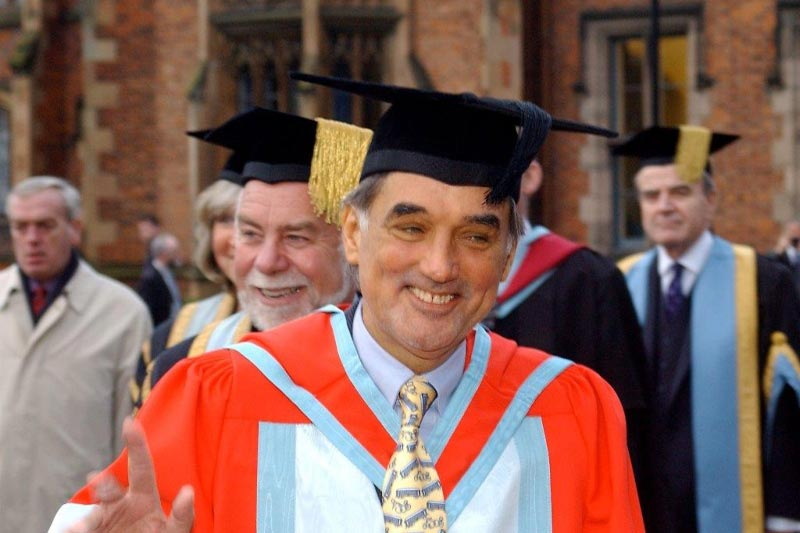 Former Manchester United and Northern Ireland footballer, George Best, at his honorary graduation
