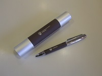 Brown leather gift pen