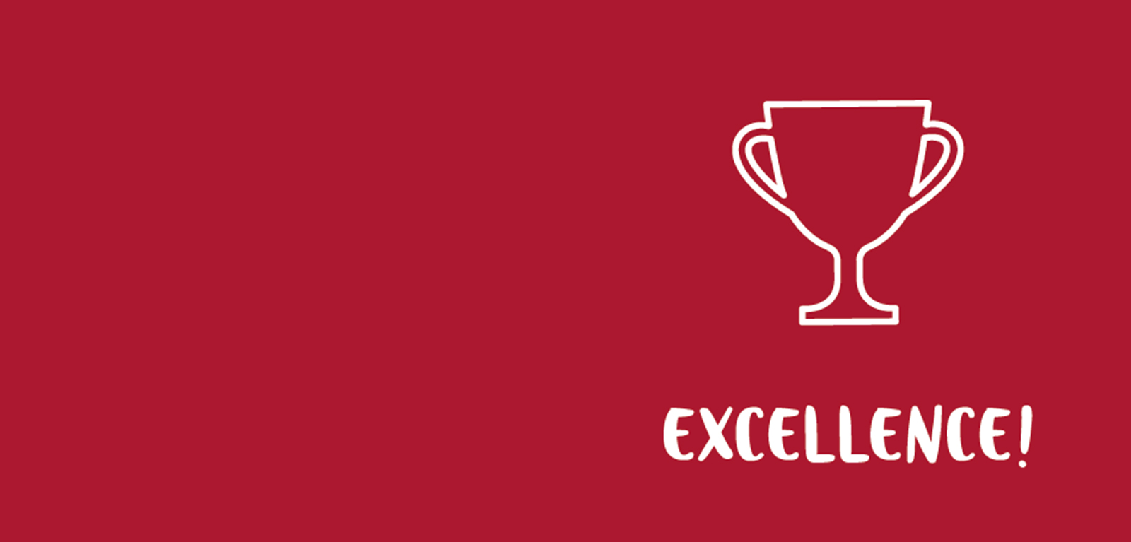 Excellence banner - red