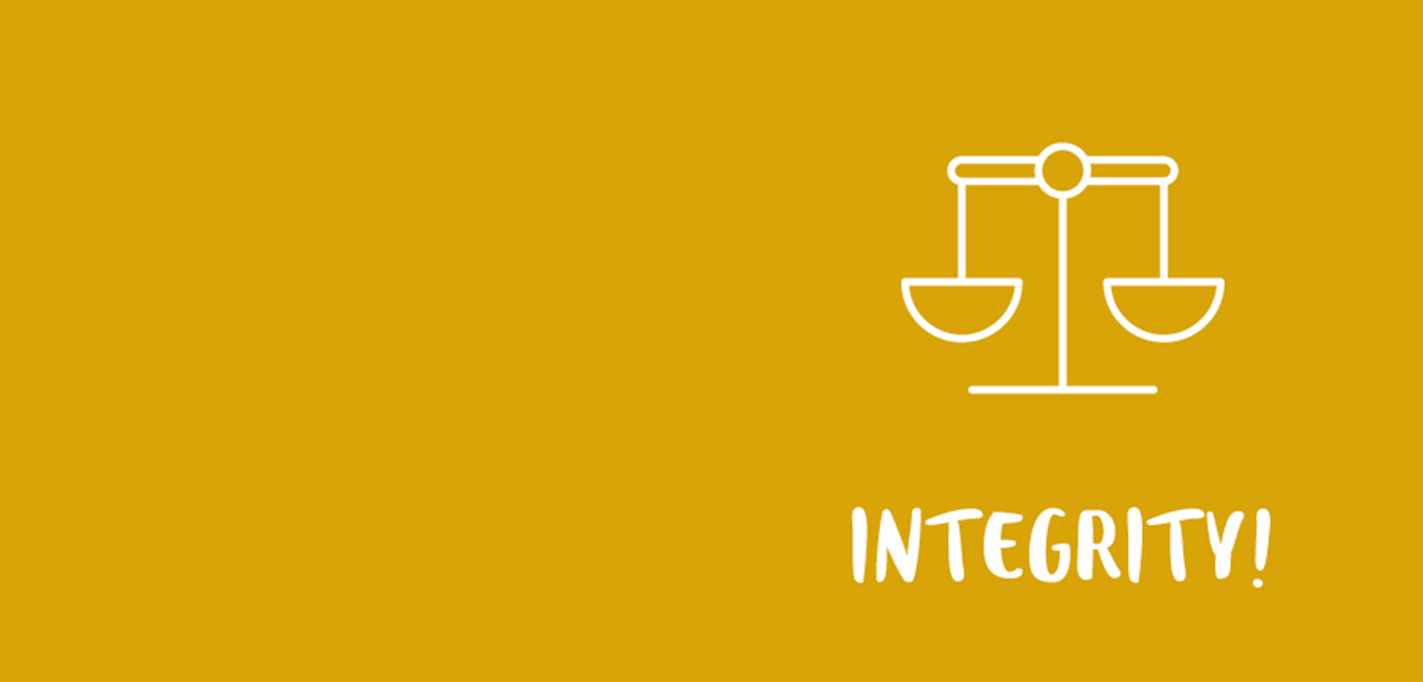 integrity banner - yellow