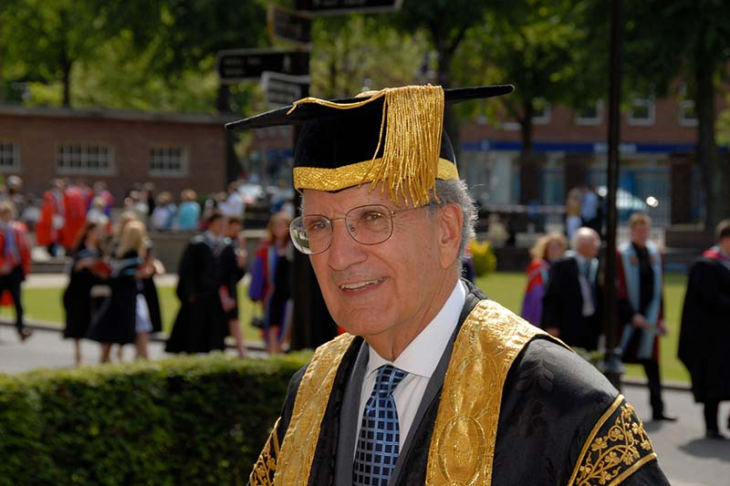 Senator George J. Mitchell attending a Summer graduation at Queen's University Belfast