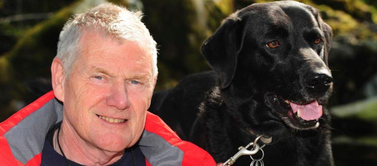 Neil Powell with his dog Charco