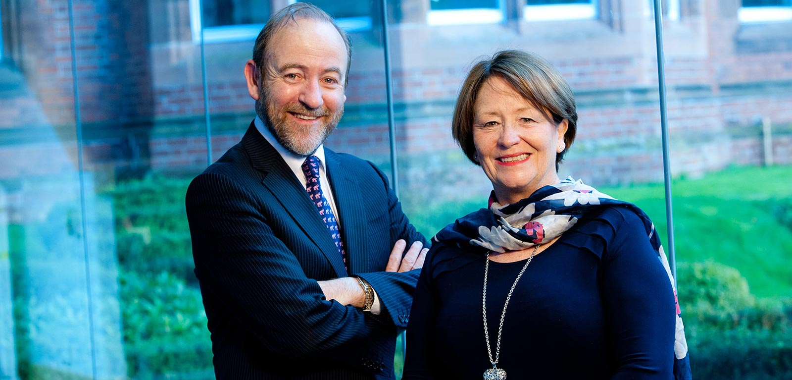 Thomas Hunter Magowan, Chief Executive of InterTradeIreland, and Anne Clydesdale, Director of the William J Clinton Leadership Institute at Queen's University
