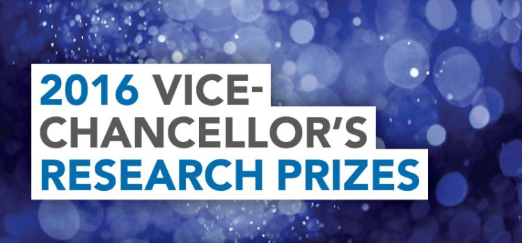 Vice Chancellor's Research Prizes 2016 - banner - 1600x747