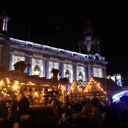The Belfast Christmas Market at city hall