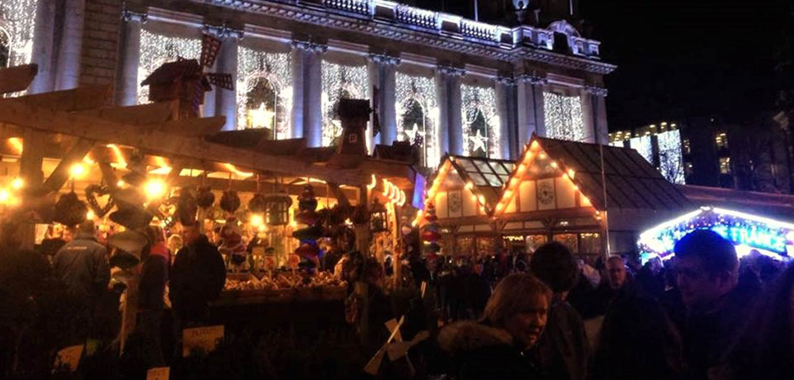 banner image of the Belfast Christmas market