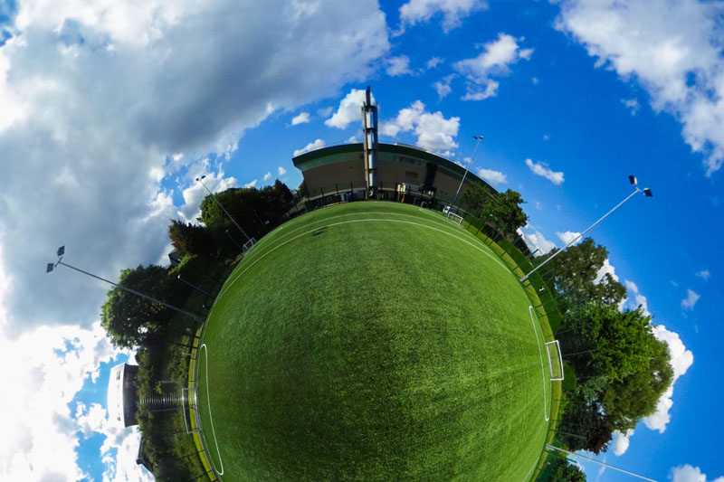 360 degree still image of the Malone Road playing fields