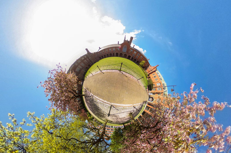 360 degree still image of the quad within the Lanyon building