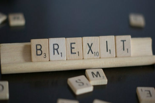 Brexit in Scrabble pieces
