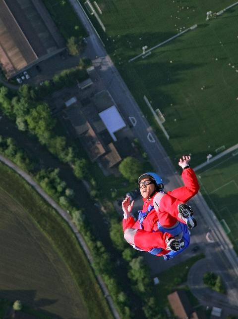 Skydiving de-stress