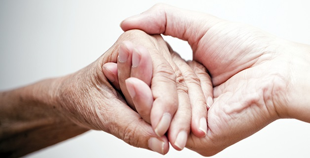 Nursing palliative care hands