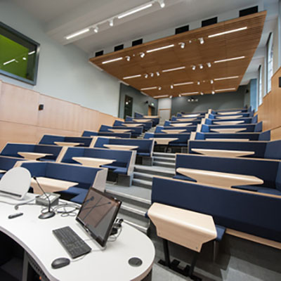 Interactive lecture theatre David Keir building 400x400