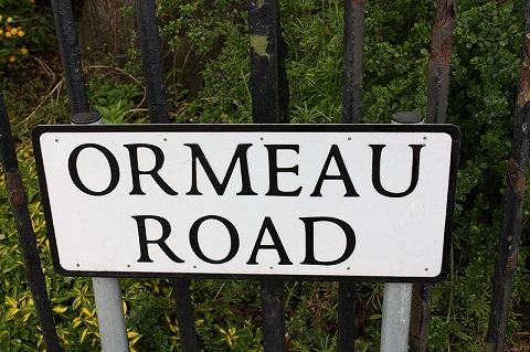 Ormeau Road sign