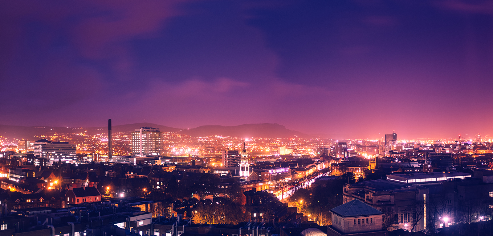 Belfast by night banner