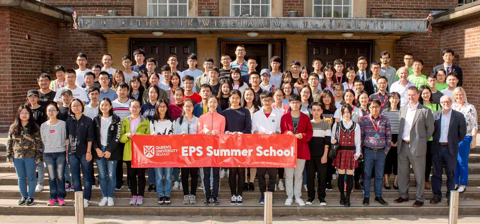 China Summer School Delegates outside the Whitla Hall