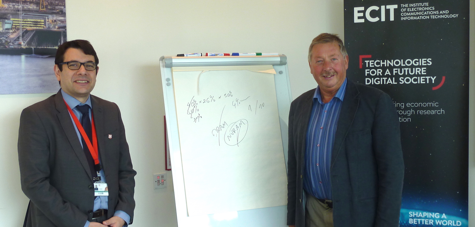 Sammy Wilson MP visits ECIT, Sept 2018