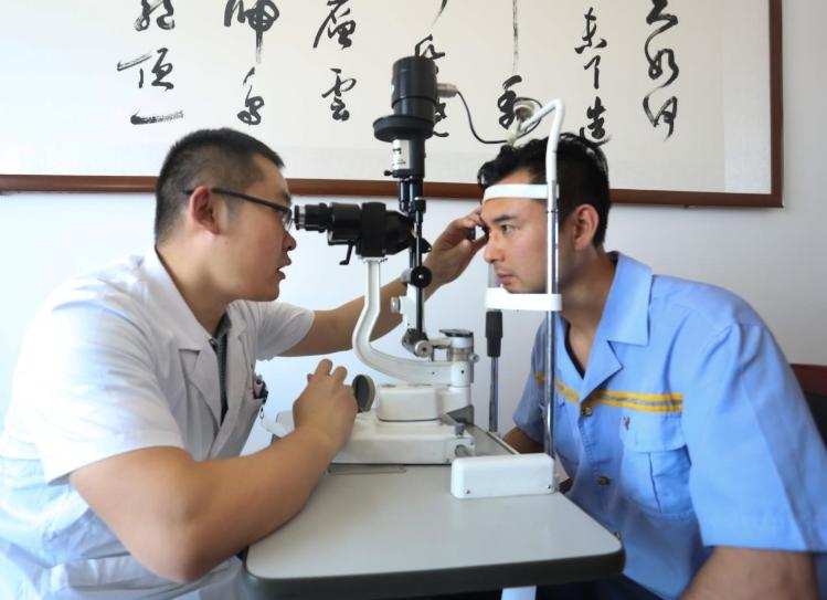 Chinese Doctor Testing a patient