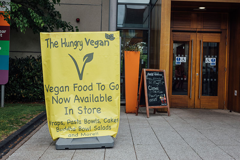 Vegan food available at Elms BT9