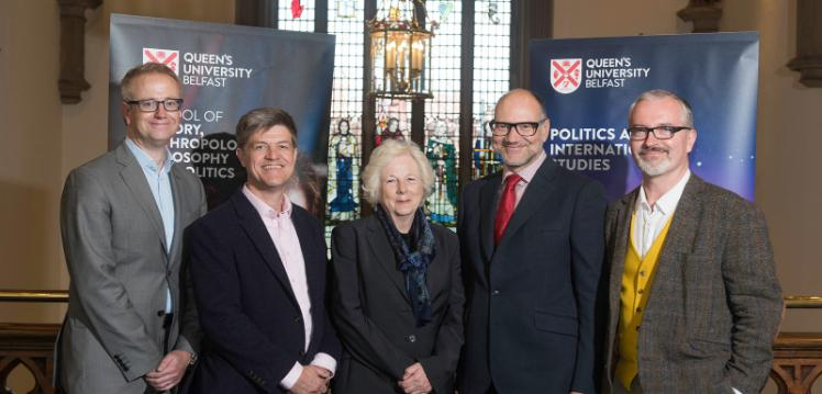 Leading Oxford Academic Professor Stathis Kalyvas with Queen's University Academics