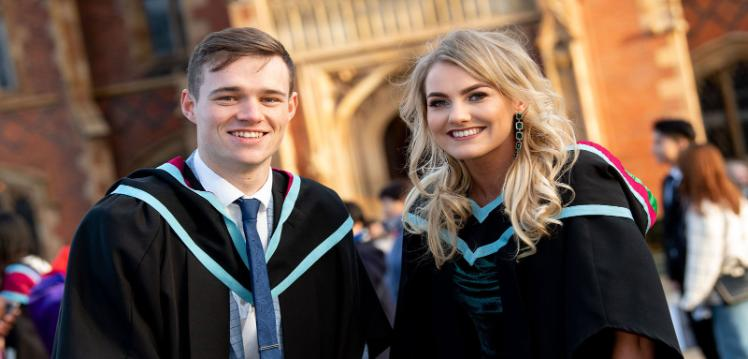 Mark McGlinn and Niamh Quinn at Graduation