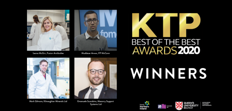 Queen's winners of the KTP Best of the Best 2020 awards