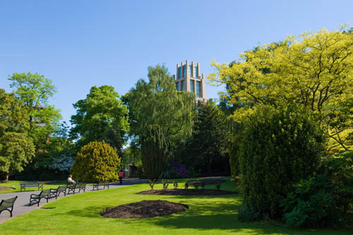 QUB library from Botanic Gardens