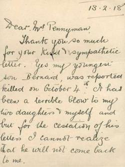 2015-10-30 # Mary Pennyman - Letter dated 1918-02-13