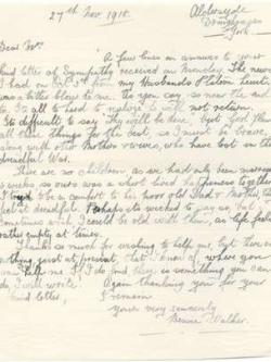 2015-10-30 # Mary Pennyman - Letter dated 1918-11-27