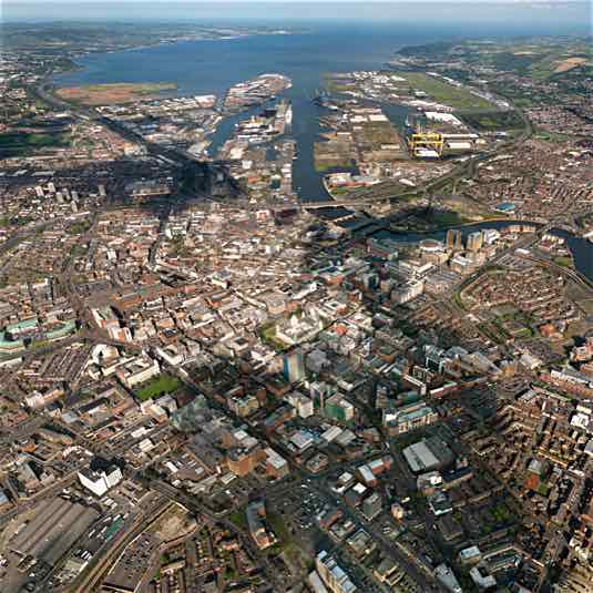 Aerial Photo Belfast City 535x535
