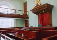 photo of the inside of a courtroom