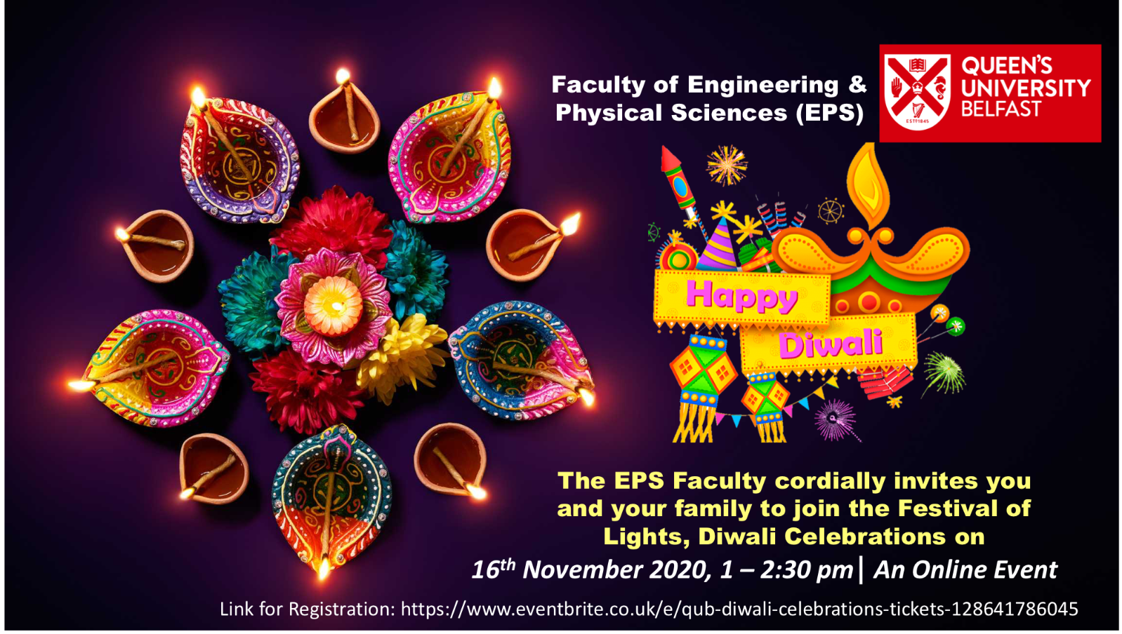 An image which provides information about the EPS Diwali event