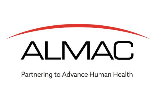 The logo for Almac