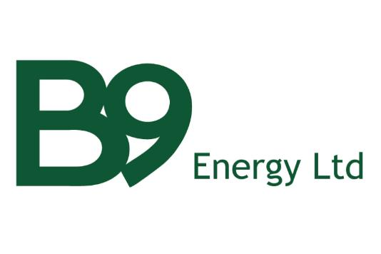 The logo for B9